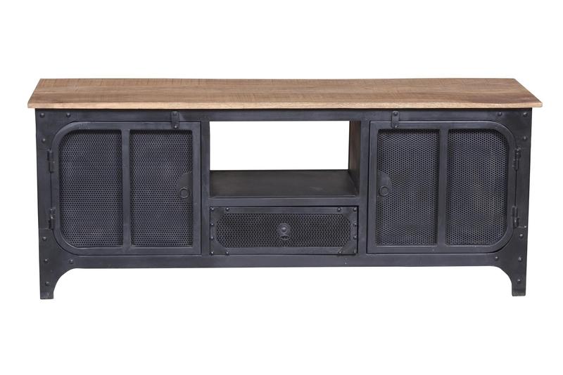 tv schrank fabrikstil kommoden sideboards. Black Bedroom Furniture Sets. Home Design Ideas