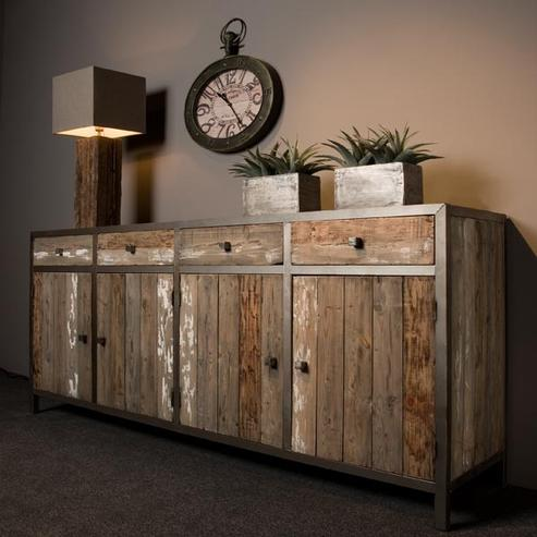Tv Sideboard Holz Metall Tv Lowboard Industriell Bei Mobelhaus Hamburg