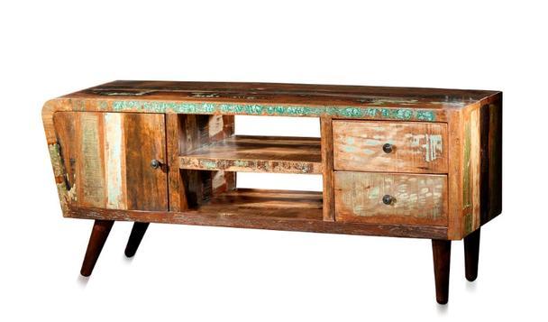 tv sideboard retro collection aus recyceltem holz. Black Bedroom Furniture Sets. Home Design Ideas