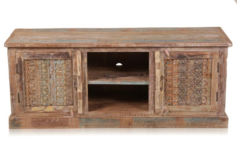 tv sideboard shabby chic aus indien bunt kommoden. Black Bedroom Furniture Sets. Home Design Ideas