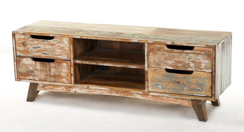 tv sideboard shabby chic mit schubladen kommoden sideboards industrielle m bel bei. Black Bedroom Furniture Sets. Home Design Ideas