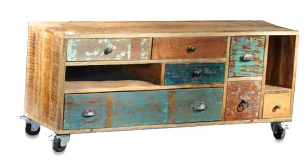 tv sideboard shabby chic vintage style. Black Bedroom Furniture Sets. Home Design Ideas