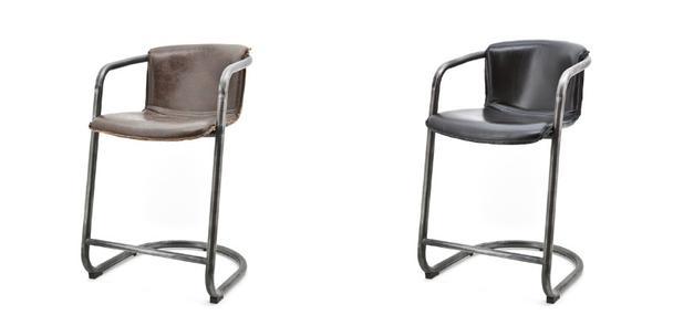 Vintage barstuhl leder barhocker sofas sessel for Barstuhl leder