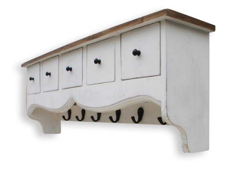 vintage garderobe zum aufh ngen mit schubladen. Black Bedroom Furniture Sets. Home Design Ideas