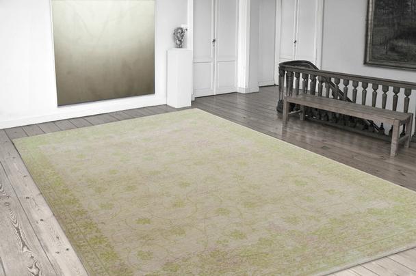 vintage optik teppich gr n accessoires bei m belhaus hamburg. Black Bedroom Furniture Sets. Home Design Ideas