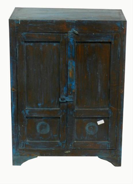 vintage schrank blau massivholz wohnzimmer. Black Bedroom Furniture Sets. Home Design Ideas