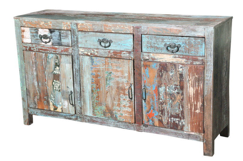 vintage sideboard aus altem sheeshamholz kommoden. Black Bedroom Furniture Sets. Home Design Ideas