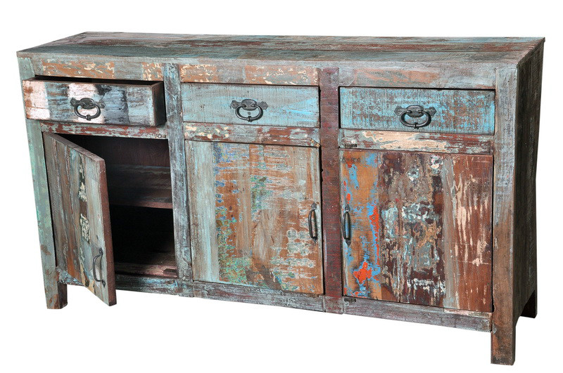Vintage Sideboard Aus Altem Sheeshamholz Vintage Sideboard Bei