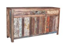 vintage sideboard aus altem sheeshamholz