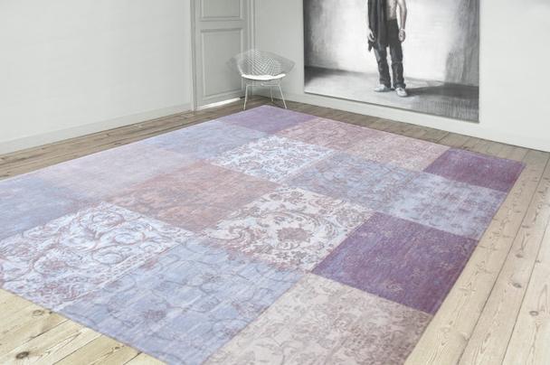 vintage teppich patchwork lavendel accessoires bei m belhaus hamburg. Black Bedroom Furniture Sets. Home Design Ideas