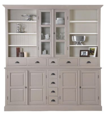 vitrine buffet hochschrank schrank landhausstil landhaus shabby chic wei massiv neu landhaus. Black Bedroom Furniture Sets. Home Design Ideas