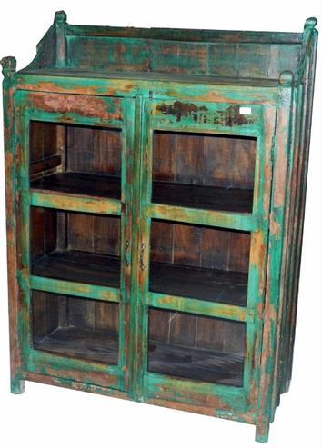 Vintage möbel weiss grün  Vitrine grün Shabby Chic - Vitrinen & Glaschränke - Schränke ...