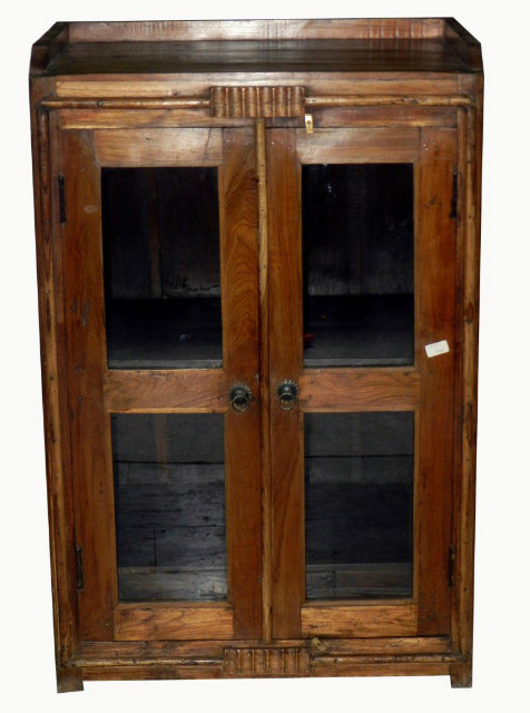 vitrine im kolonialstil aus massivholz schr nke alle. Black Bedroom Furniture Sets. Home Design Ideas