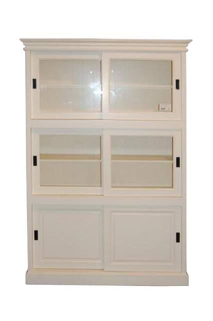 vitrine mit schiebet ren k chenvitrine online bei m belhaus hamburg. Black Bedroom Furniture Sets. Home Design Ideas