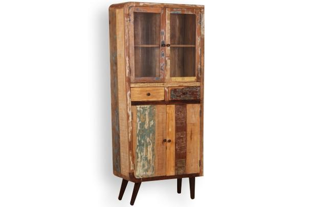 vitrine retro aus altem holz schr nke industrielle m bel bei m belhaus hamburg. Black Bedroom Furniture Sets. Home Design Ideas
