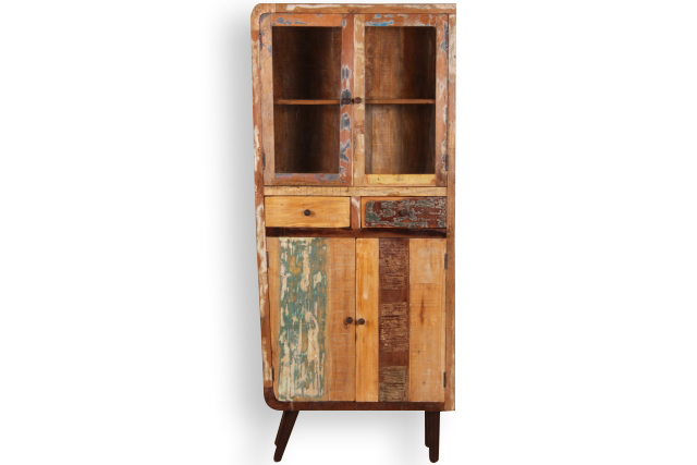 vitrine retro aus altem holz industrielle m bel bei m belhaus hamburg. Black Bedroom Furniture Sets. Home Design Ideas