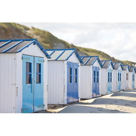 Wandbild Motiv kleine Häuschen am Strand