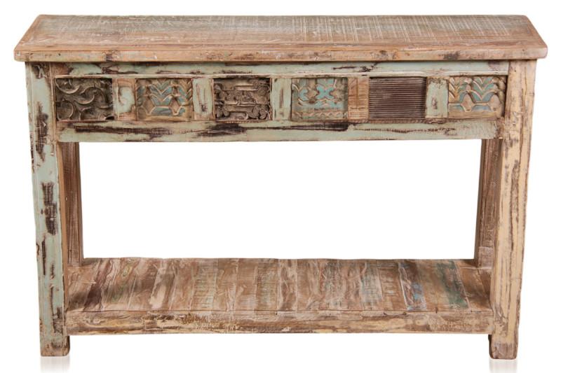 Wandtisch aus altem holz indisch wandtische konsolen for Sofa indisch