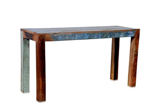 Wandtisch aus recycling holz vintage optik tische for Wandtisch holz