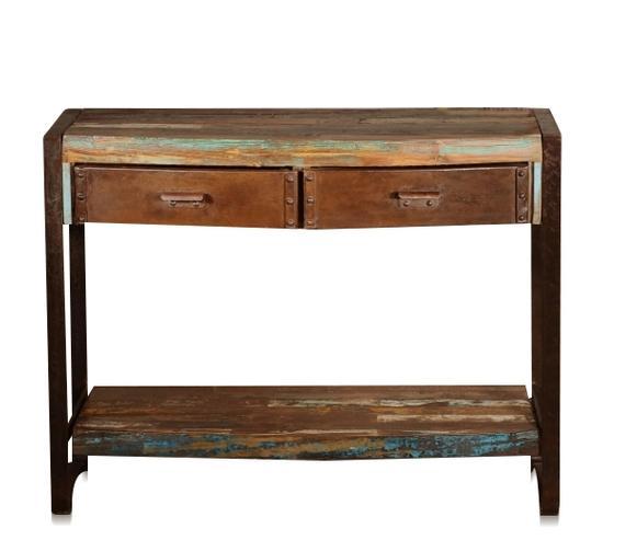 Wandtisch industrial Chic Recycling Holz - Tische - industrielle ...