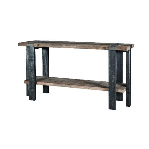 Wandtisch rustikal aus holz und metall industrielle for Wandtisch holz