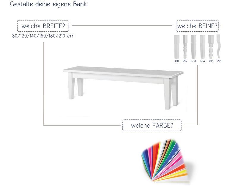weiße Bank nach Maß - passend zum K3-Esstisch nach Maß - Sitzbänke ...
