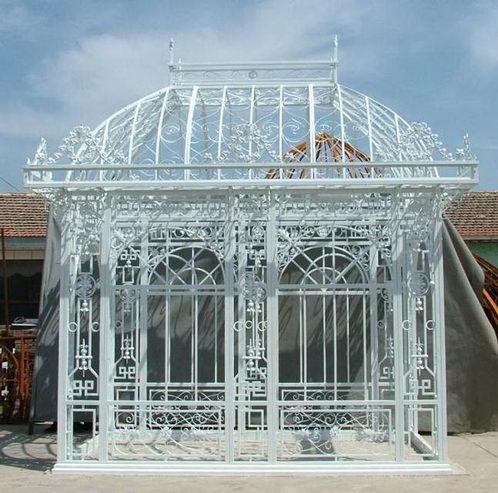 Weisser Pavilion Aus Eisen Pavillons Garten Bei Mobelhaus Hamburg