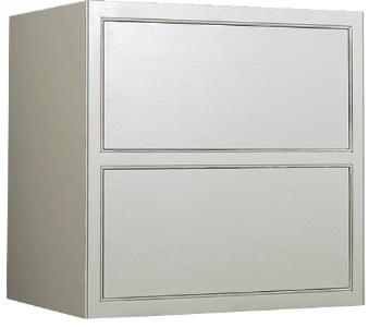 Weisser unterschrank mit 2 schubladen landhaus kuchenmobel for Landhausküchenm bel