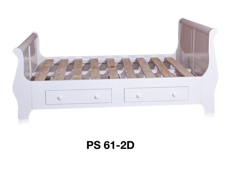 weißes Landhaus Bett mit Schubladen weiß - Betten - Landhaus Möbel ...