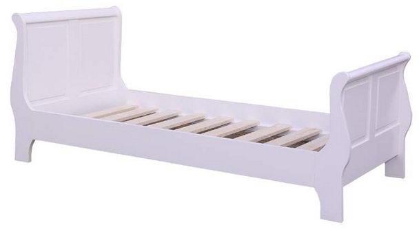 weißes Landhaus Bett ohne Schubladen