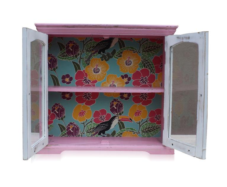 zweit riger wandschrank vintage zum aufh ngen vitrinen. Black Bedroom Furniture Sets. Home Design Ideas